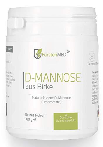 FürstenMED® D-Mannose aus Birke 100g Mannose Pulver mit Messlöffel - Vegan, aus Deutschland ohne Zusatzstoffe