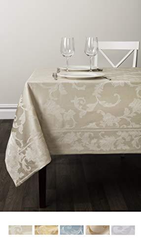 Benson Mills Harmony Scroll Tablecloth (Birch, 60' X 120' Rectangular)