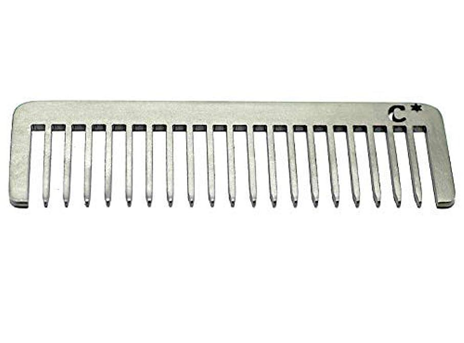 動くかろうじて副Chicago Comb Short Model 5 Standard, Made in USA, Stainless Steel, Wide Tooth, Rake Comb, Anti-Static, Ultra-Smooth, Strong, Durable, 4 in. (10 cm) Long, Ultimate Daily Use Comb, Men & Women [並行輸入品]