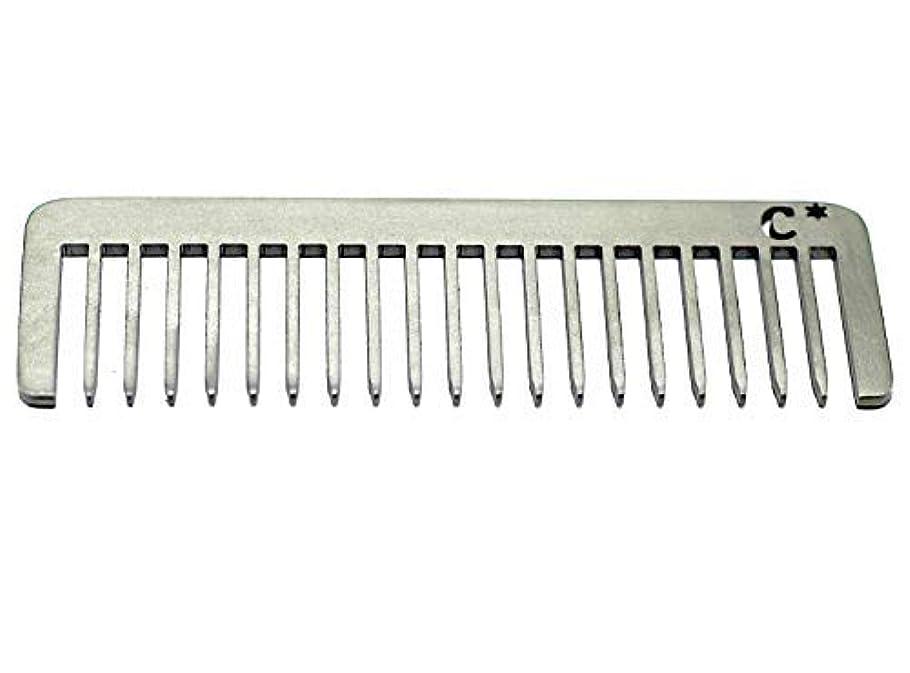 以前はコンソール手当Chicago Comb Short Model 5 Standard, Made in USA, Stainless Steel, Wide Tooth, Rake Comb, Anti-Static, Ultra-Smooth, Strong, Durable, 4 in. (10 cm) Long, Ultimate Daily Use Comb, Men & Women [並行輸入品]