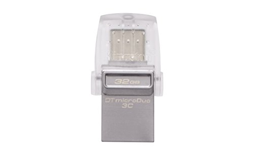 Kingston DataTraveler microDuo - Memoria USB 3.1 de 32 GB ⭐