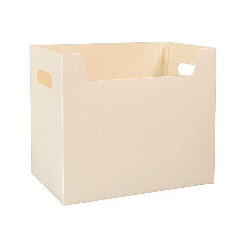 JN kleine en eenvoudige opbergdoos, wit licht draagbare opvouwbare desktop multifunctionele A4 formaat File Storage Box