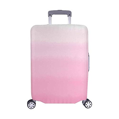 InterestPrint Abstract Pink Ombre Gradient Watercolor Travel Luggage Cover Suitcase Baggage Case Fits 22'-25' Luggage