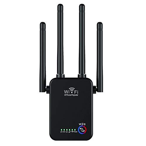 Motyy Amplificador de SeeAl de Repetidor WiFi 300M Enrutador InaláMbrico 802.11N Amplificador de ExpansióN de Red Cuatro Antenas Enchufe de la UE
