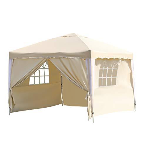 Tenda a baldacchino pieghevole da 3 x 3 m, resistente gazebo per feste all'aperto, tenda istantanea...