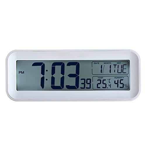 A-ZHP Estilo Europeo Personalidad LCD Reloj Despertador Mudo Creativo electrónica Calendario perpetuo de Estar Sala de Estudio Dormitorio Principal del Calendario del Reloj del Despertador d