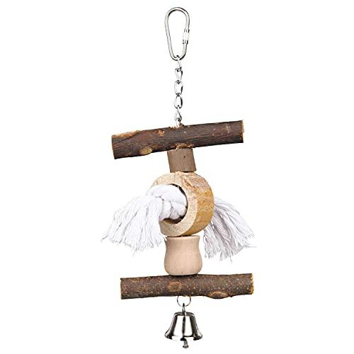 Trixie 58961 Natural Living Spielzeug mit Tau/Glocke, 20 cm