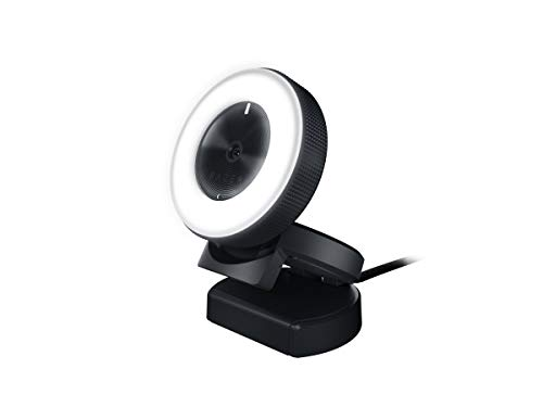 Razer Kiyo 1080p 30 FPS/720 p 60 FPS Streaming Webcam with Adjustable Brightness Ring Light, Built-in Microphone and Advanced Autofocus