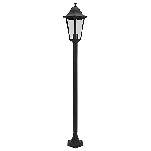 ETC-Shop LED Gartenlaterne für Draußen   Laterne, Kandelaber, Stehleuchte   ALU, Schwarz   Höhe 130 cm