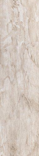 Bodenfliesen Tilos weiß matt im Format 20x80cm aus Feinsteinzeug Fliesen in Holzoptik (Muster ab 10x10cm)