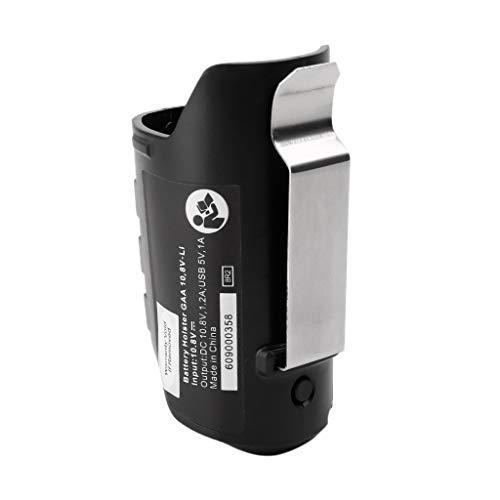 Ycncixwd USB-Adapter Ladegerät Holster Ersatz für Bosch Professional Li-ion Akku 10,8V/12V BHB120