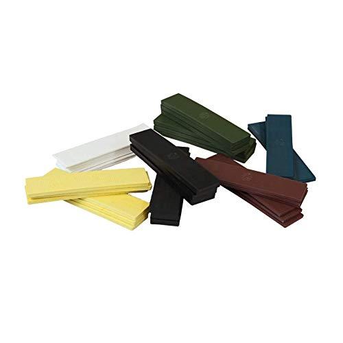 600 x Kunststoff Verglasungsklötze Set Glasklötze Unterleger 100x24x 1, 2, 3, 4, 5, 6 mm Distanzklötze Trageklötze Abstandshalter