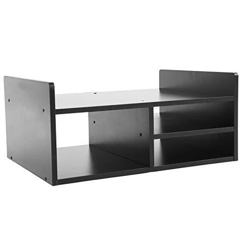 Soporte de impresora, organizador de escritorio con 2 niveles y 3 rejillas para soporte de impresora de almacenamiento, soporte de monitor para ordenador y televisión para escritorio 51 x 38 x 23 cm