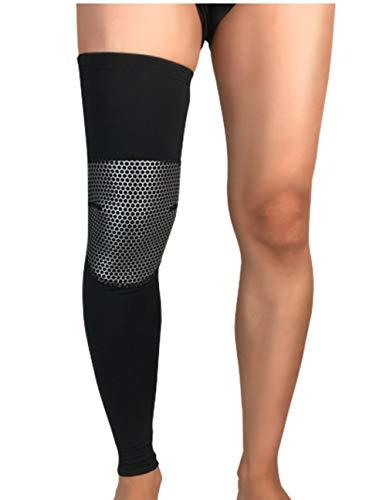 Uitgebreide Ademende Sport Kniebeschermers Compressie Bescherming jukbeenderen Leggings Outdoor Basketbal Voetbal Beschermende Gear Zilver-m