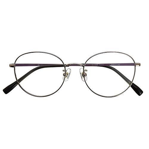 ブルーライトカット UVカット 遠近両用メガネ ブランシック クラシック cl-3088 (レディースセット) 全額返金保証 境目のない 遠近両用 老眼鏡 (瞳孔間距離:66mm〜68mm, 近くを見る度数:+3.0)