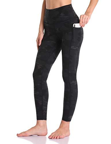 Colorfulkoala Women's High Waisted Yoga Pants 7/8 Length Leggings with Pockets (M, Deep Grey Splinter Camo)