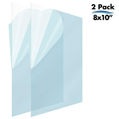 Mejor Icona Bay PET Plastic Replacement for Picture Frame Glass (8x10, 2 Pack) PET is The Ideal Replacement Glass Material to Avoid Shattered Glass crítica 2020