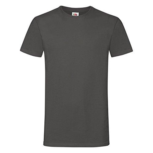 Fruit of the Loom Herren Sofspun® T-Shirt, Kurzarm, Rundhals (XL) (Hell Graphit)