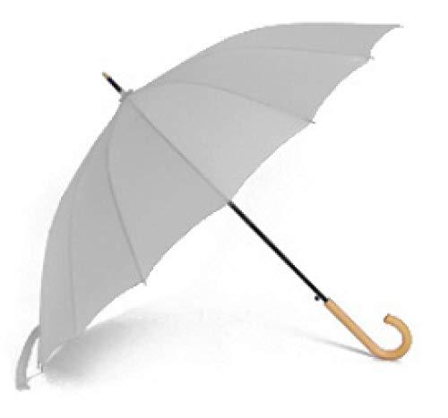 Paraplu Japanse Kleine Verse Gebogen Houten Handvat 16K Rechte Paraplu Lange Handvat Paraplu Eenvoudige Effen Kleur Retro Mannen en Vrouwen Paraplu [Grijs]