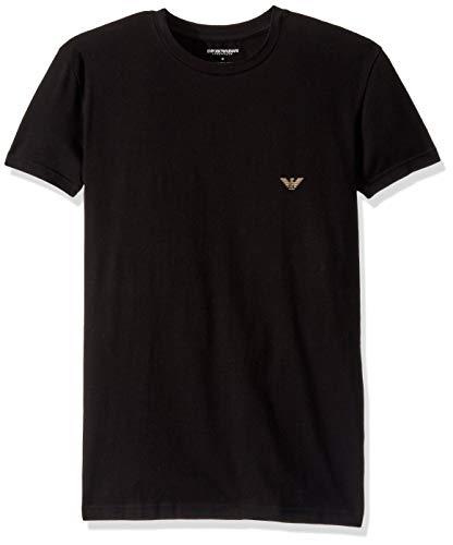 Emporio Armani Heren Big Eagle Lounge T-shirt, Zwart