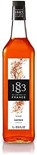 1883 Maison Routin - Saffron Syrup - Made in France - Glass Bottle | 1 Liter (33.8 oz)