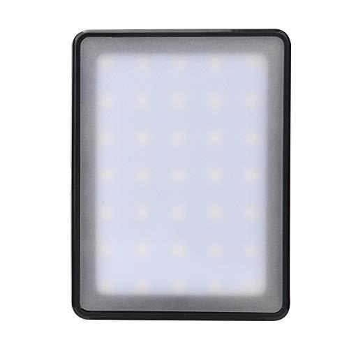 FOLOSAFENAR Cargador USB, fácil de Cargar Cómodo de Usar Luz de Relleno LED 3 Modos de Brillo para la batería LP-E6