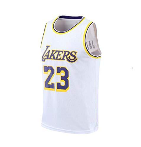 Sudadera de Baloncesto para Hombre 23# James Sudadera S-4XL,Blanco,XL
