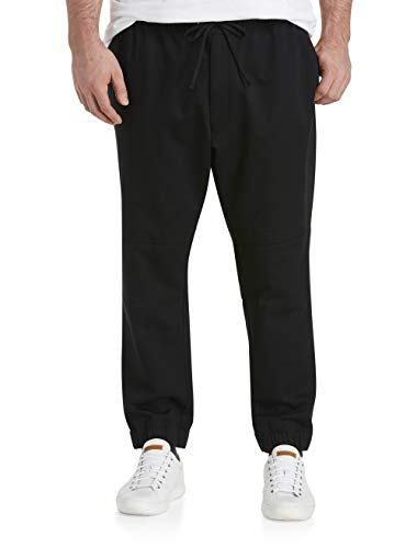 True Nation by DXL Big and Tall Everyday Moto Joggers, Black, 2XL