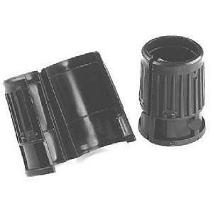 "ISS Wire Shelving Shelf Lock Clips for 1"" Post, Shelving Sleeves, Plastic, Black, 8 Pcs/Pack"
