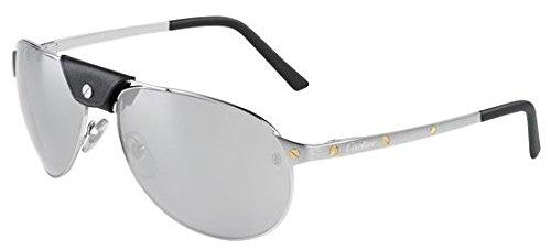 Cartier - Gafas de sol - para hombre Plateado plateado