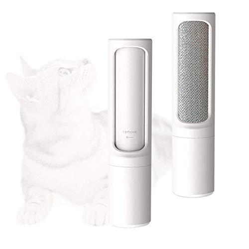 Wuudi Fusselbürste 2 Stücke, Fusselrolle für Haustierhaar, Fusselrolle Tierhaare, Entfernung Das Hundehaare Katzenhaare, Kleiderbürste für Kleidung und Möbel