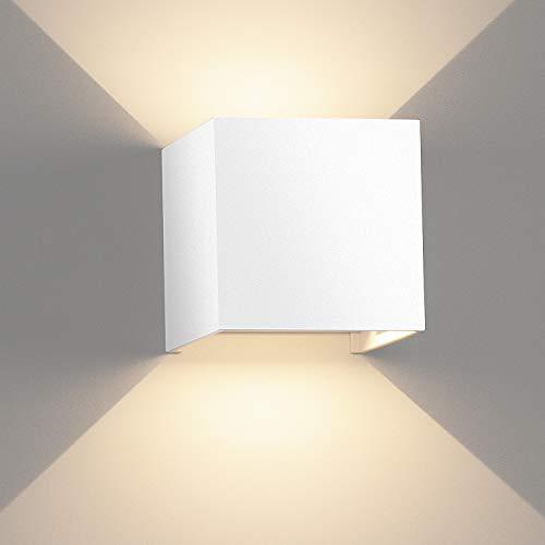 LEDMO 12W Lámpara de Pared 3000K Apliques Pared Exterior/Interior IP65 Apliques de Pared Modernos Adecuado para Dormitorio / Dala de Estar / Patio