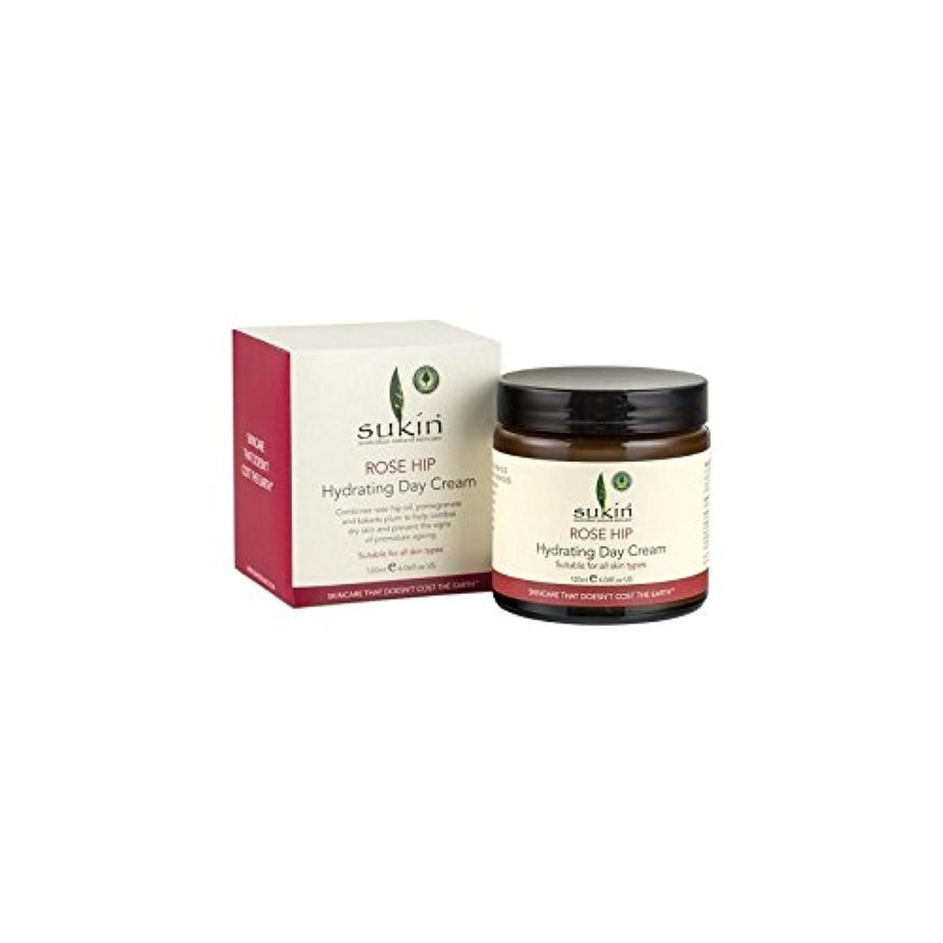 フローティング覆す咽頭Rose Hip Hydrating Day Cream (120ml) (Pack of 6) - ヒップ水和デイクリーム(120ミリリットル)をバラ x6 [並行輸入品]