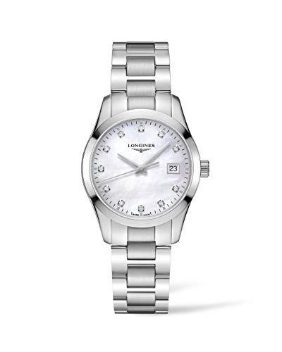 Longines orologio Conquest Classic 34mm Madreperla Bianca Acciaio Donna L2.386.4.87.6
