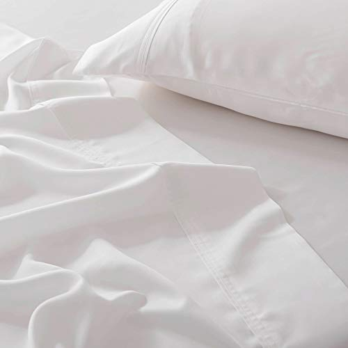 Olive + Crate Cooling Eucalyptus Sheets - SilkenSoft European Tencel Sheet Sets That are Cool Sheets for Hot Sleepers with Deep Pocket Fitted Sheets - Moisture Wicking for Night Sweats