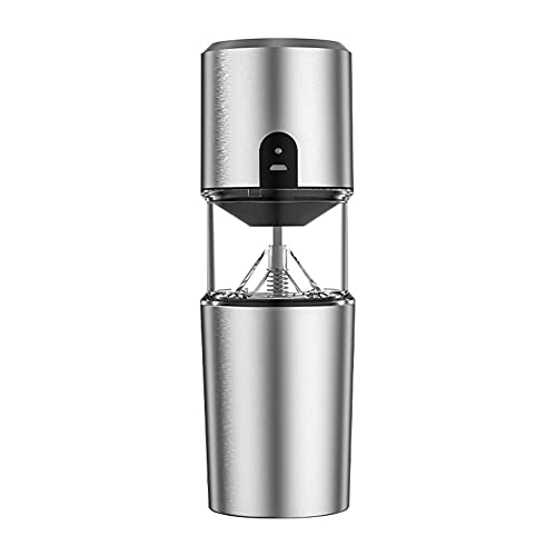 HUIKJI Coffee Grinder,Portable Automatic Coffee Grinder USB Rechargeable Stainless Steel Electric Coffee Grinder for Outdoor Hiking Travel tenting