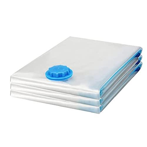 finebrand Aspiradora Bolsa De Almacenamiento Space Saver Bolsas De Compresión Ropa De Cama Impermeables para Edredones Mantas Coats 3pcs L