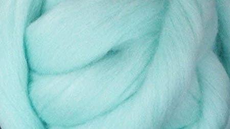 Spinning Fiber Light blue wool roving powder blue Baby Blue roving light blue wool Felting wool