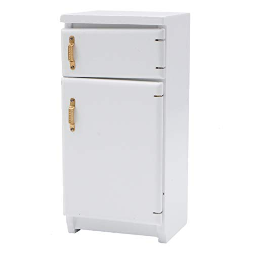 JETEHO 1/12 Dollhouse Miniature Fridge Refrigerator Dollhouse Furniture Fridge Refrigerator Accessories