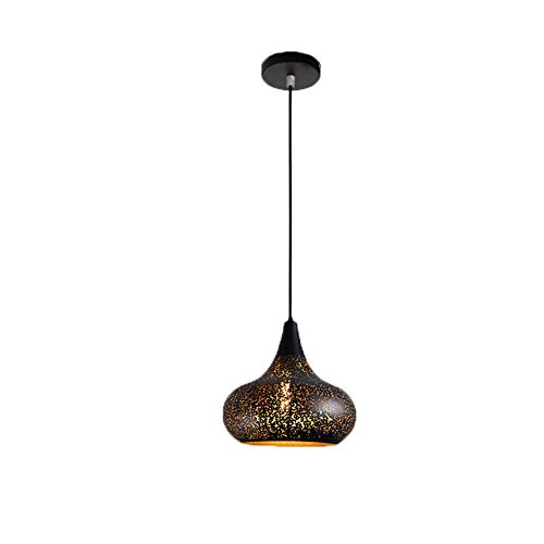 Lighfd Single Head Smeedijzer Chandelier Restaurant woonkamer licht Hol Kroonluchter Ronde Simple Retro eettafel Lamp Industrial Wind Chandelier