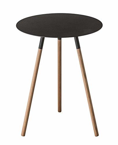 YAMAZAKI Side Table, Wood, Black, One Size