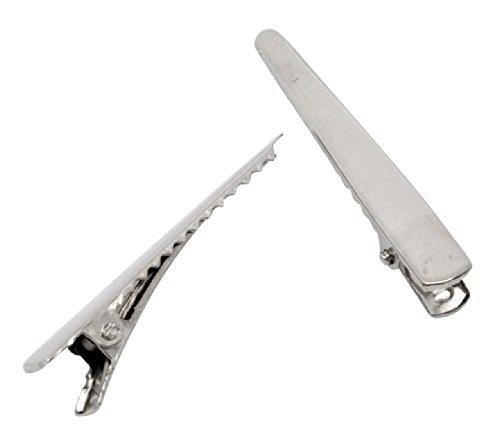 Housweety 50 Barrettes Pinces a cheveux a decorer 5x0.8cm