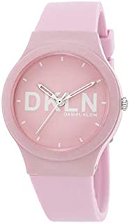 DANIEL KLEIN DKLN Plastic Case Silicon Band Ladies Wrist Watch - DK.1.12411-3