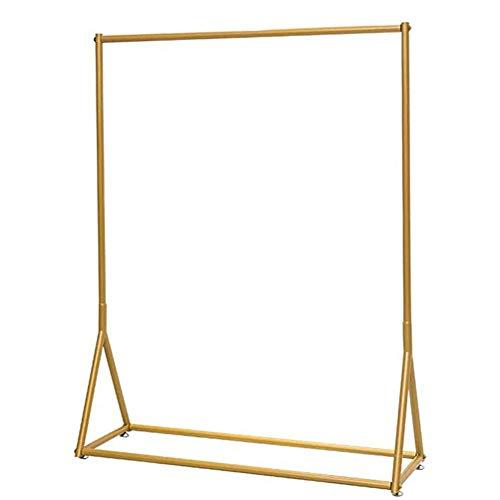 OLLTT Moderner Hochleistungsmetallausstellungsstand-einfacher industrieller Garderobenständer-Kleiderstange, Badezimmer-hängender Handtuchhalter für Wohnzimmer-Balkon-Schlafzimmer-Eingang golden