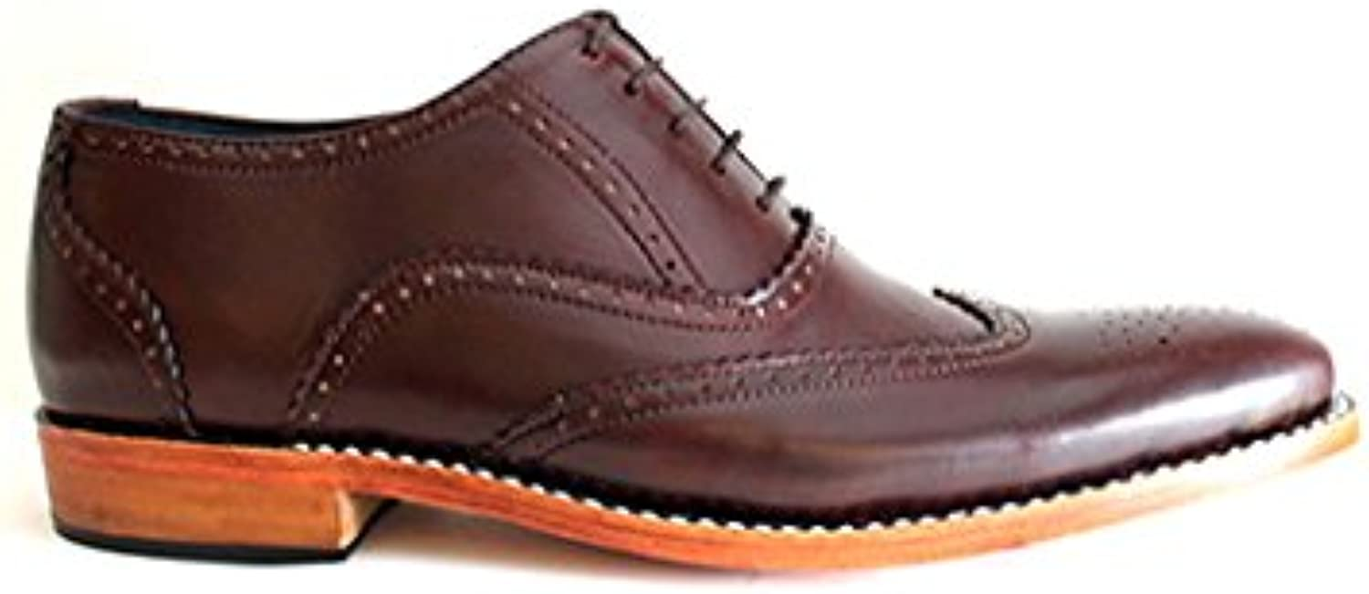 TAAVETTI Men's Formal Brown Handmade Leather Greenhill Brogue shoes