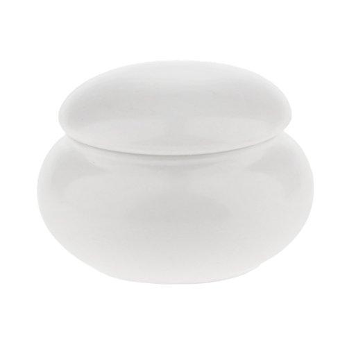 F Fityle 12ml Pot Contenant en Céramique Vides Boîte Cosmétiquqe Maquillage Stockage Containers Jars pour Fard à Paupières Poudre Crèmes - Blanc