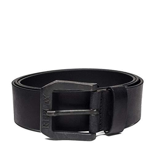 REPLAY Am2417.000.a3001 Cinturón, Negro (Black 98), 110 (Talla del fabricante: 95) para Hombre