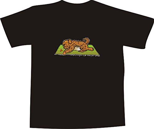 Black Dragon - T-Shirt E864 - weiß - Größe XXL - Logo - Grafik - Comic Design - Hundewelpe mit Schnuller auf einem Teppich - Funshirt Mann Frau Party Fasching Geschenk Arbeit - Bedruckt