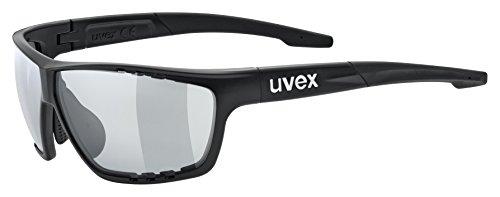 uvex Unisex– Erwachsene, sportstyle 706 V Sportbrille, selbsttönend, black mat/smoke, one size