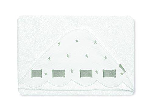Bimbi Class – Maxicapa, 100 x 100 cm, blanc et gris